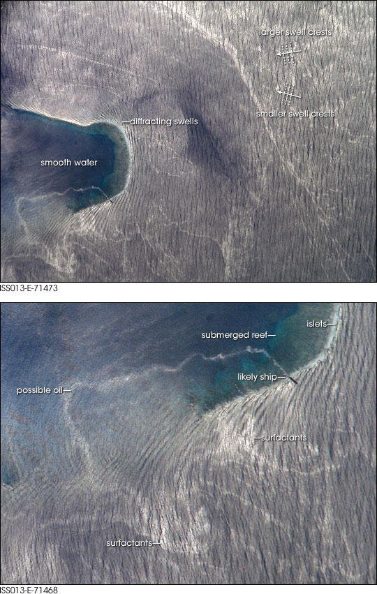 Wave Patterns Near Bajo Nuevo Reef, Caribbean Sea - related image preview