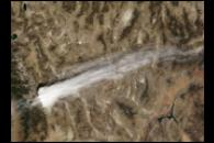 Cirrus Plume over the Sierra Nevadas