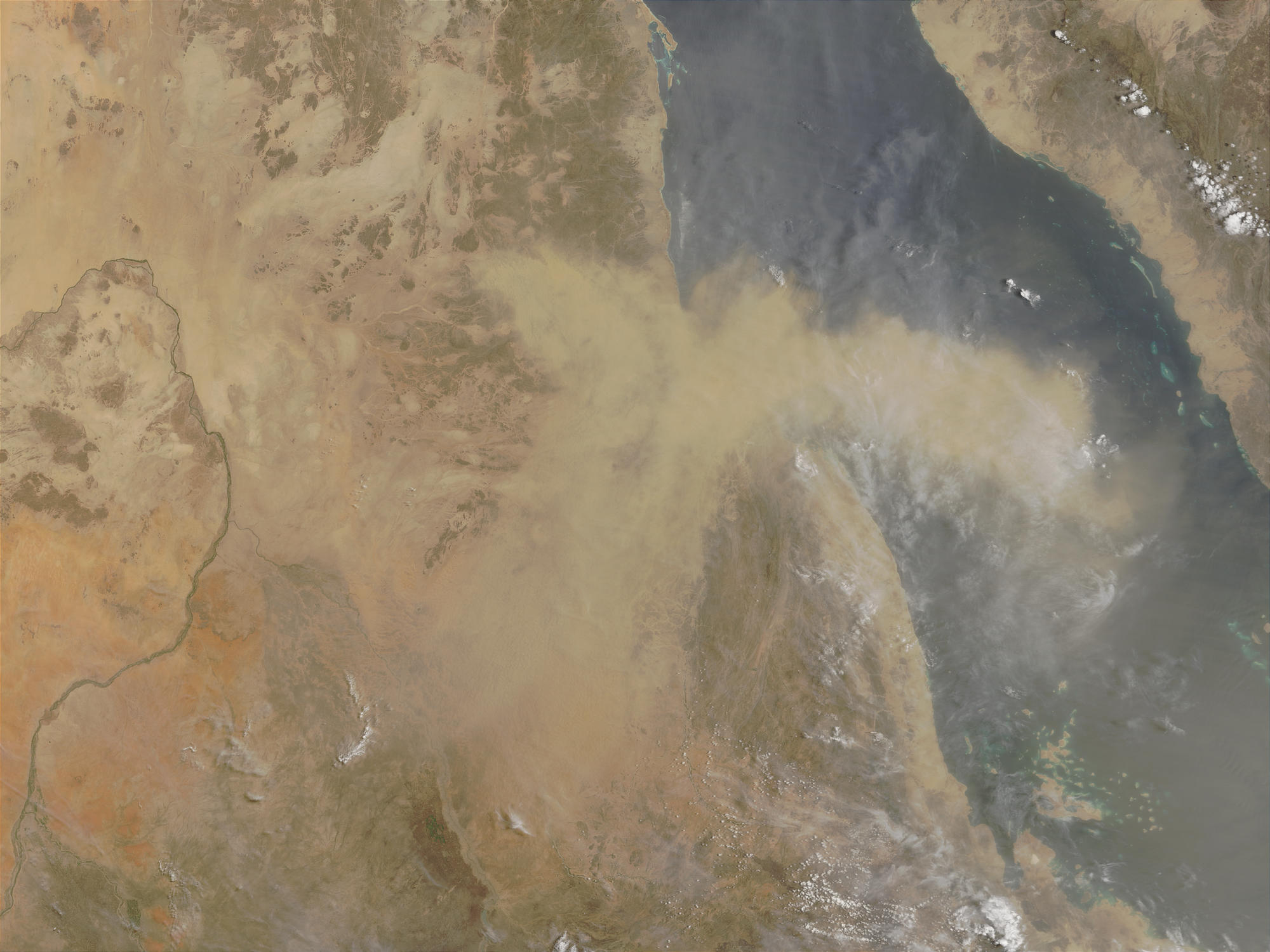 Dust storm in Sudan and Eritrea - related image preview