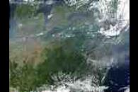 Pollution over the Great Lakes and United States East Coast