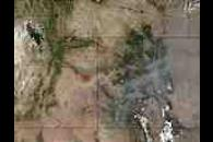 Wildfires in Utah and Colorado