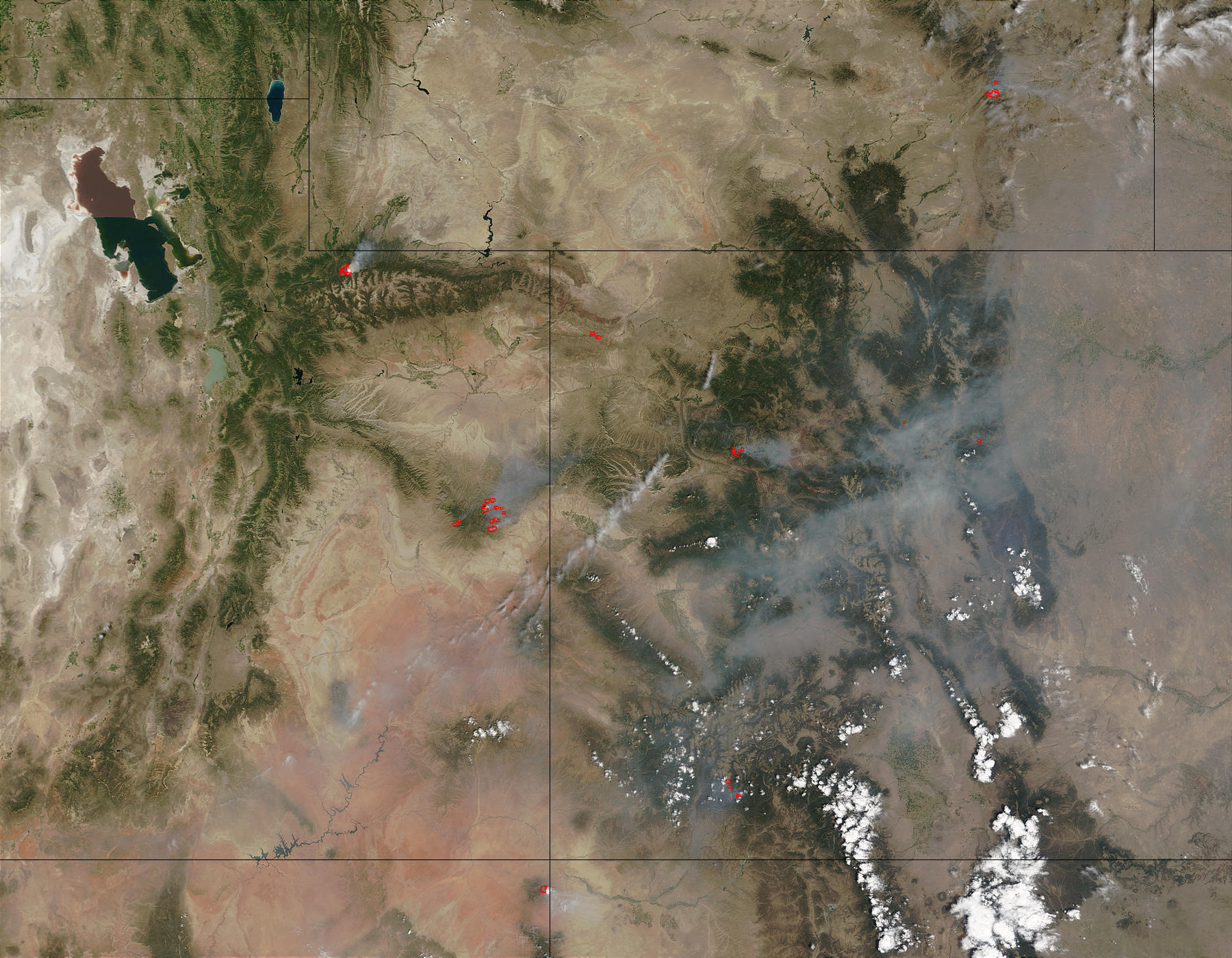 Wildfires in Utah and Colorado - related image preview