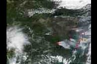 Wildfires and smoke in Saskatchewan and Alberta, Canada