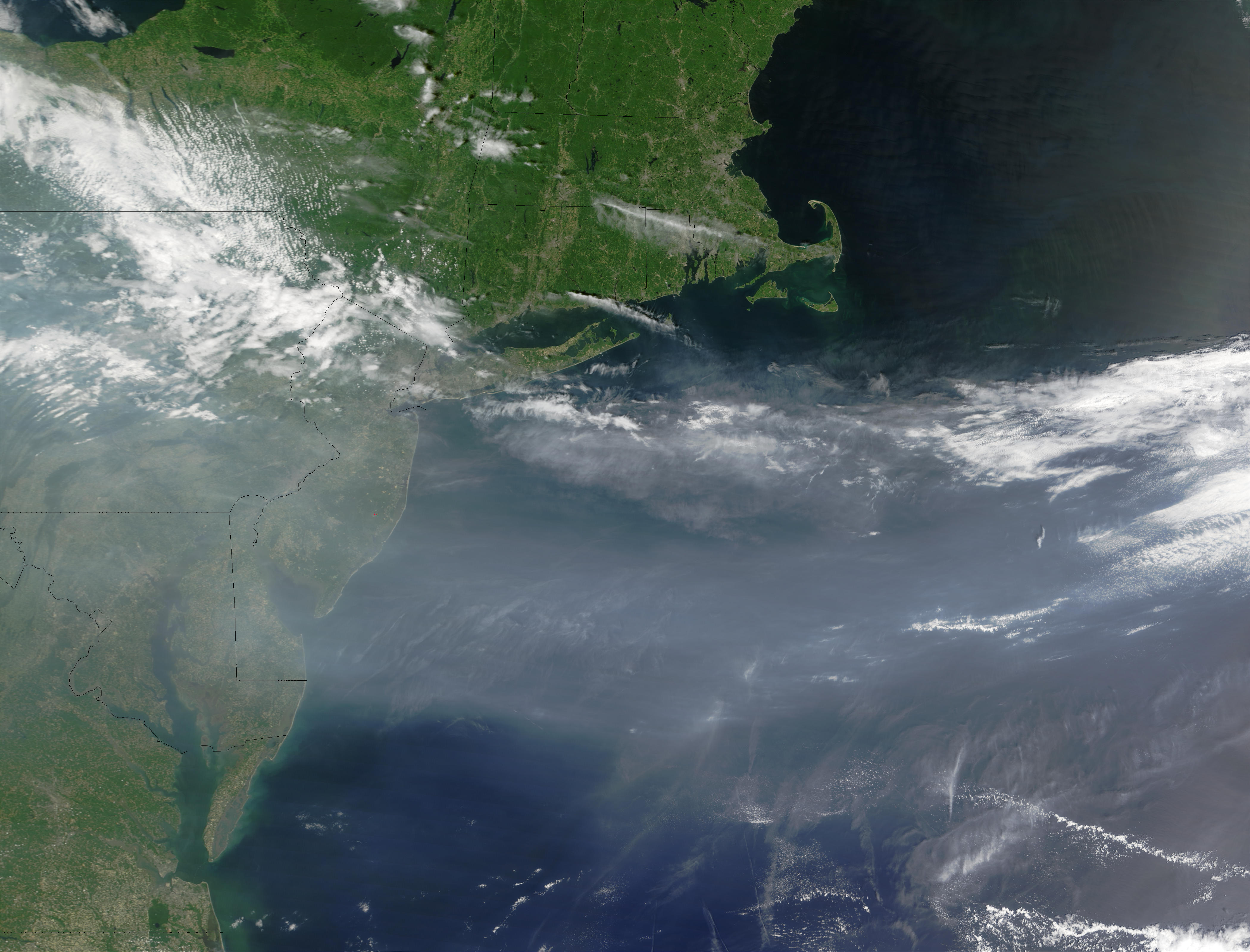 NASA Visible Earth: Pollution over United States East Coast