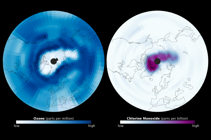 Long Cold Spell Leads to Arctic Ozone Hole - related image preview