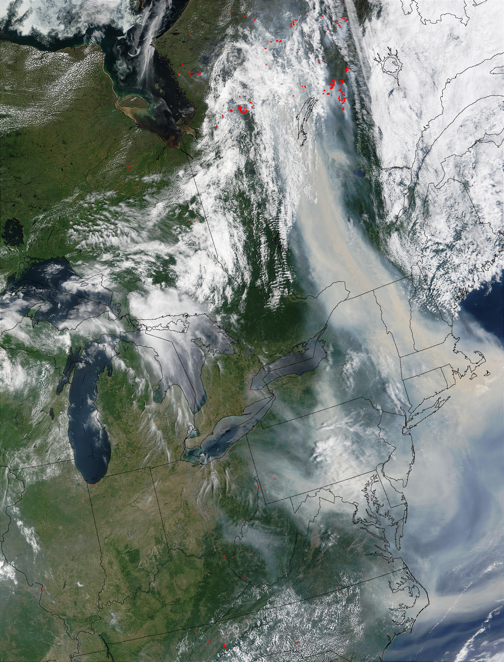 Wildfires in Quebec and smoke over United States East Coast - related image preview