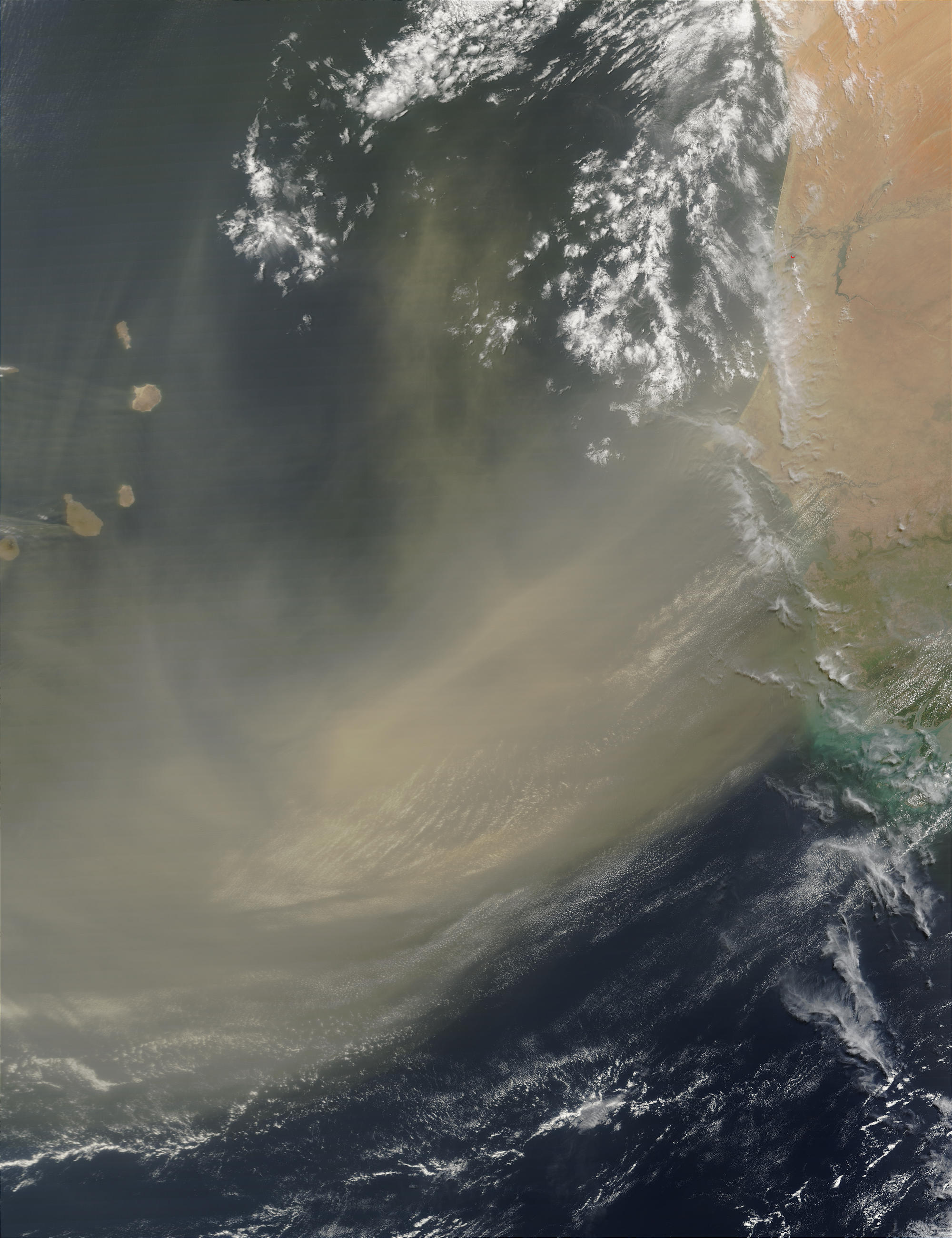 Dust storm off Western Africa - related image preview