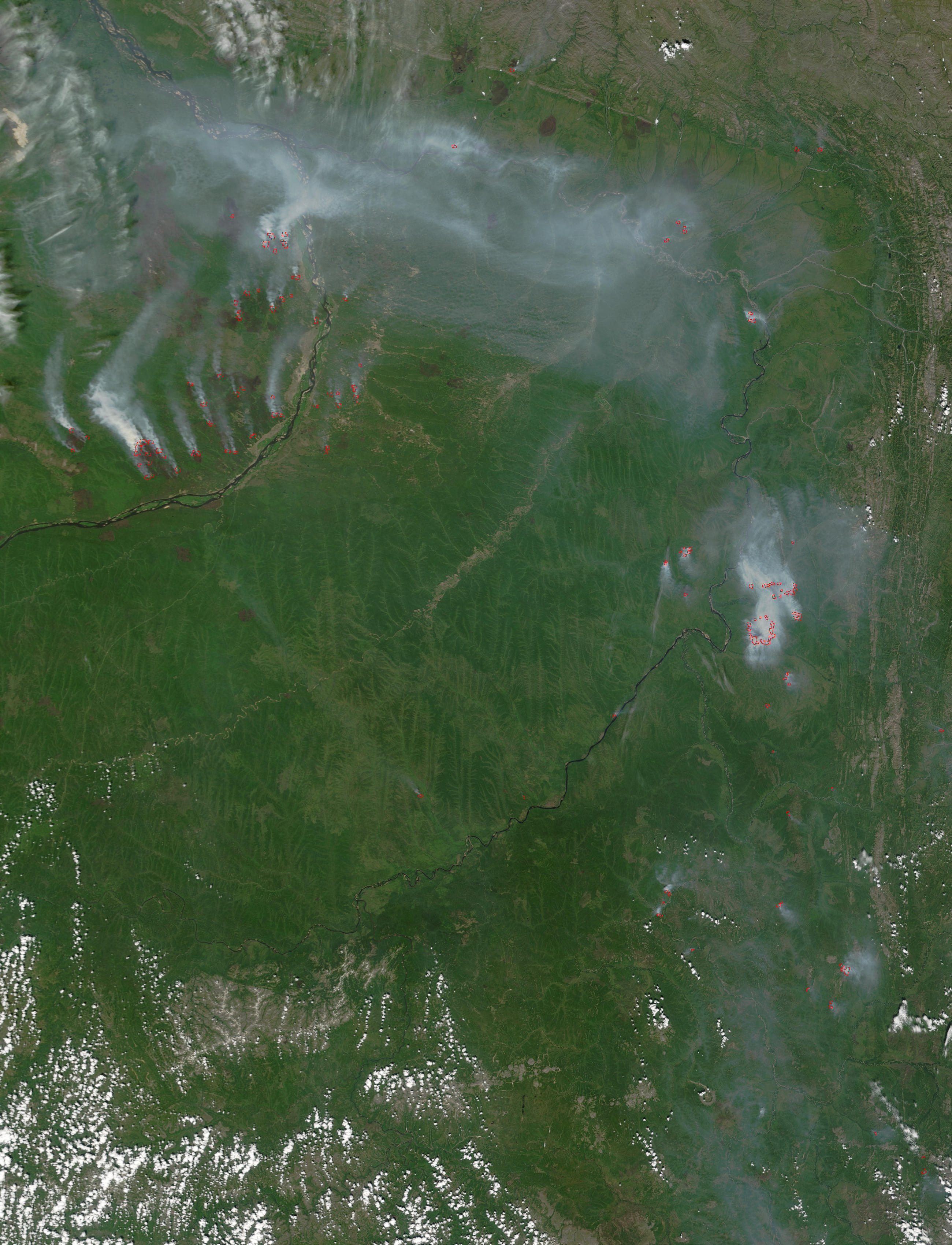 Fires and smoke near Yakutsk, Russia - related image preview