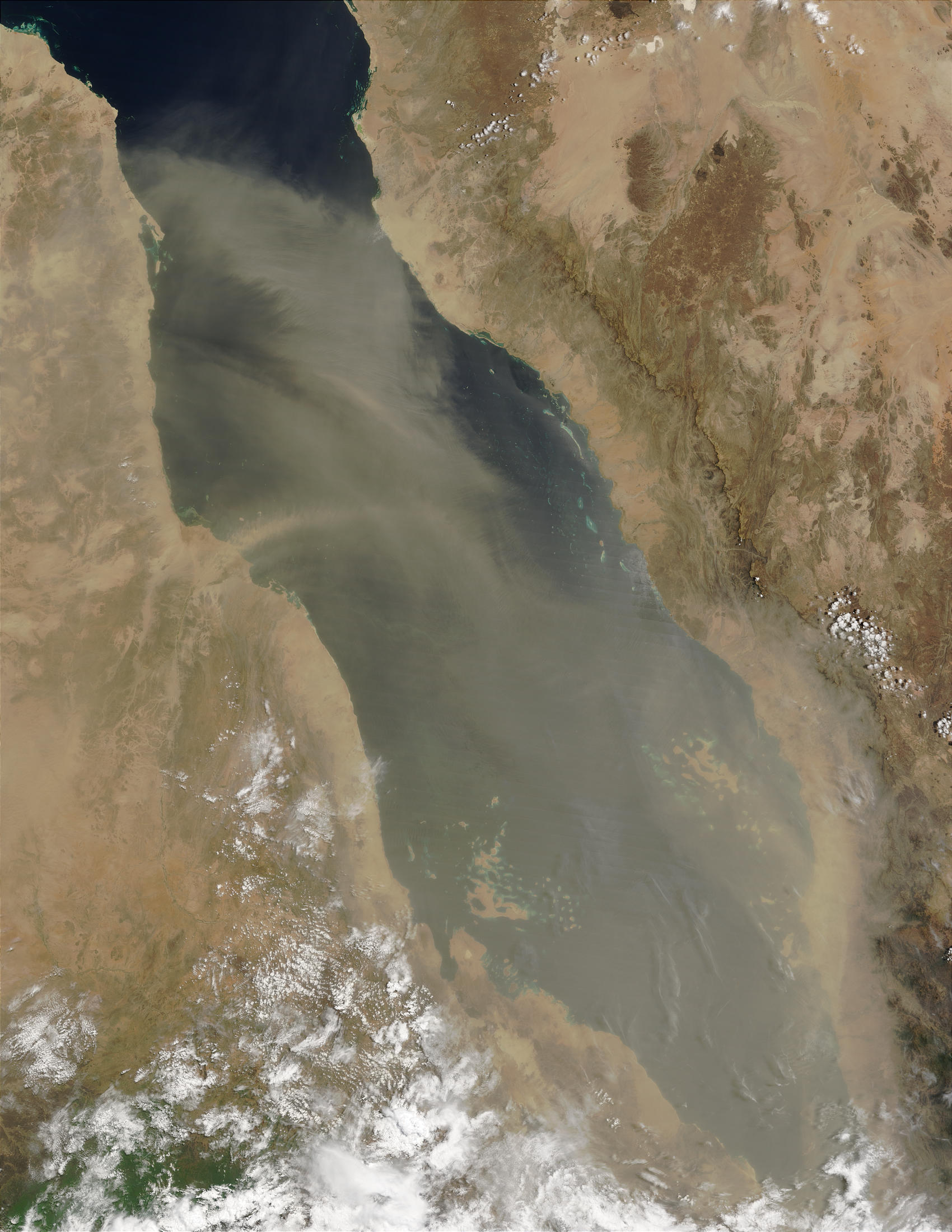 Dust storm over the Red Sea - related image preview