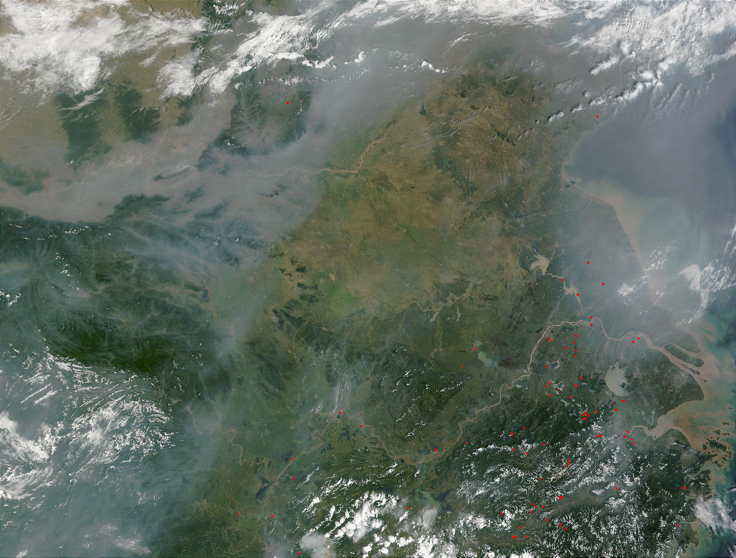 Pollution and fires in China - related image preview