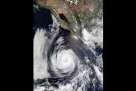 Hurricane Douglas south of Baja California