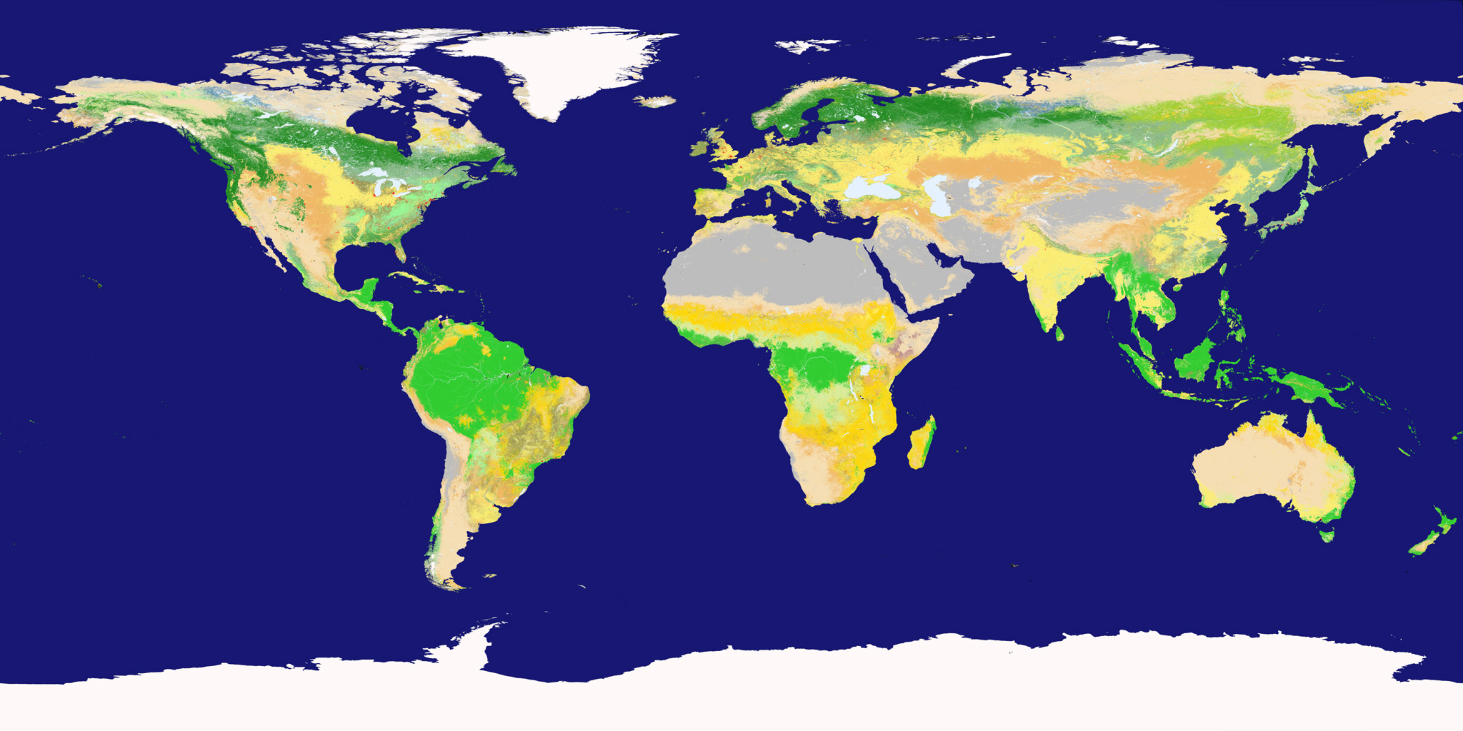Nasa Visible Earth New Land Cover Classification Maps