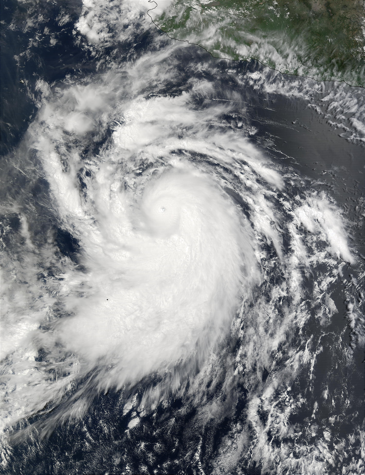 Hurricane Elida off Mexico - related image preview