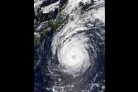 Super Typhoon Phanfone (19W) south of Japan