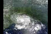 Remnants of Tropical Storm Bertha over Louisiana