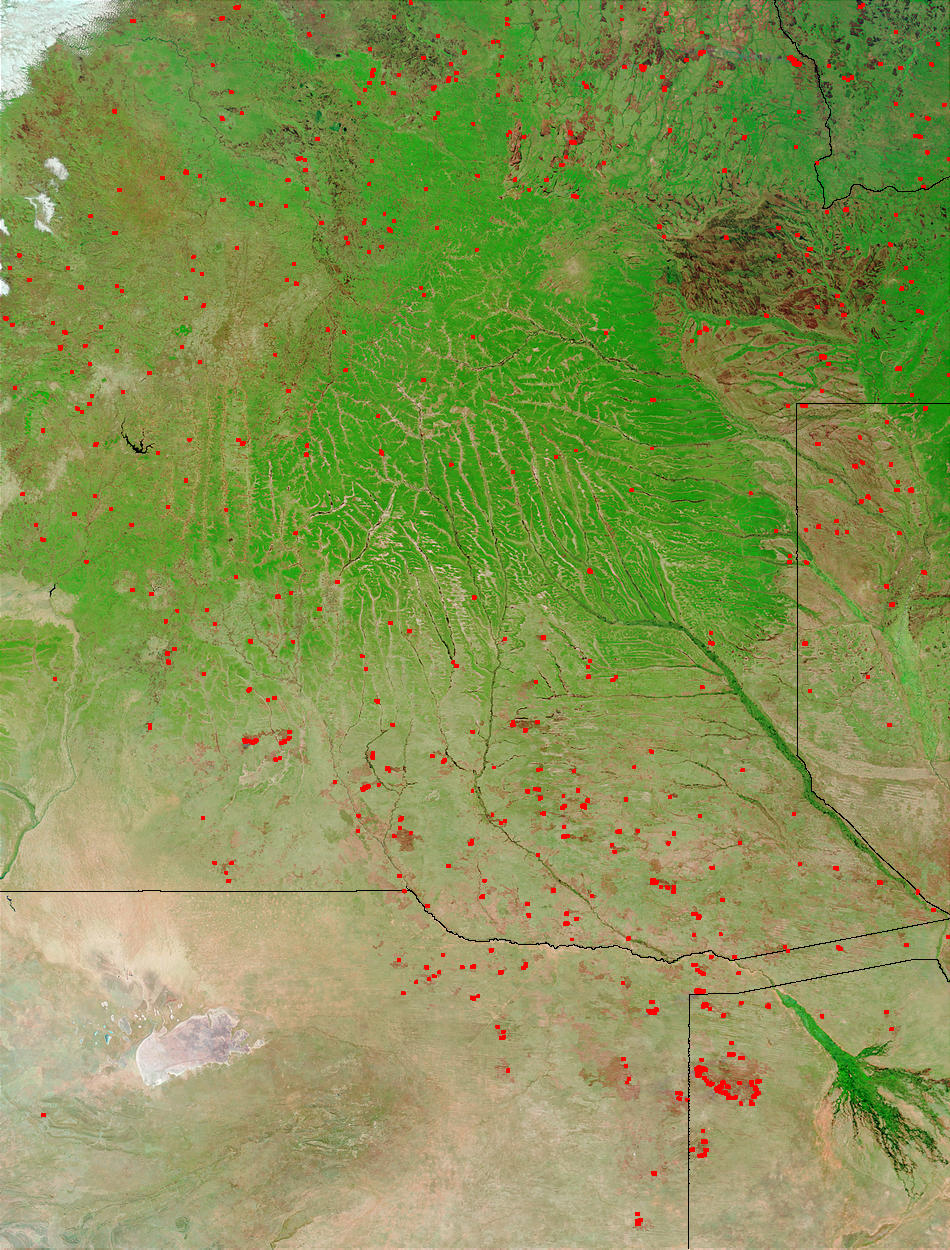 Fires and burn scars in Angola and Botswana - related image preview
