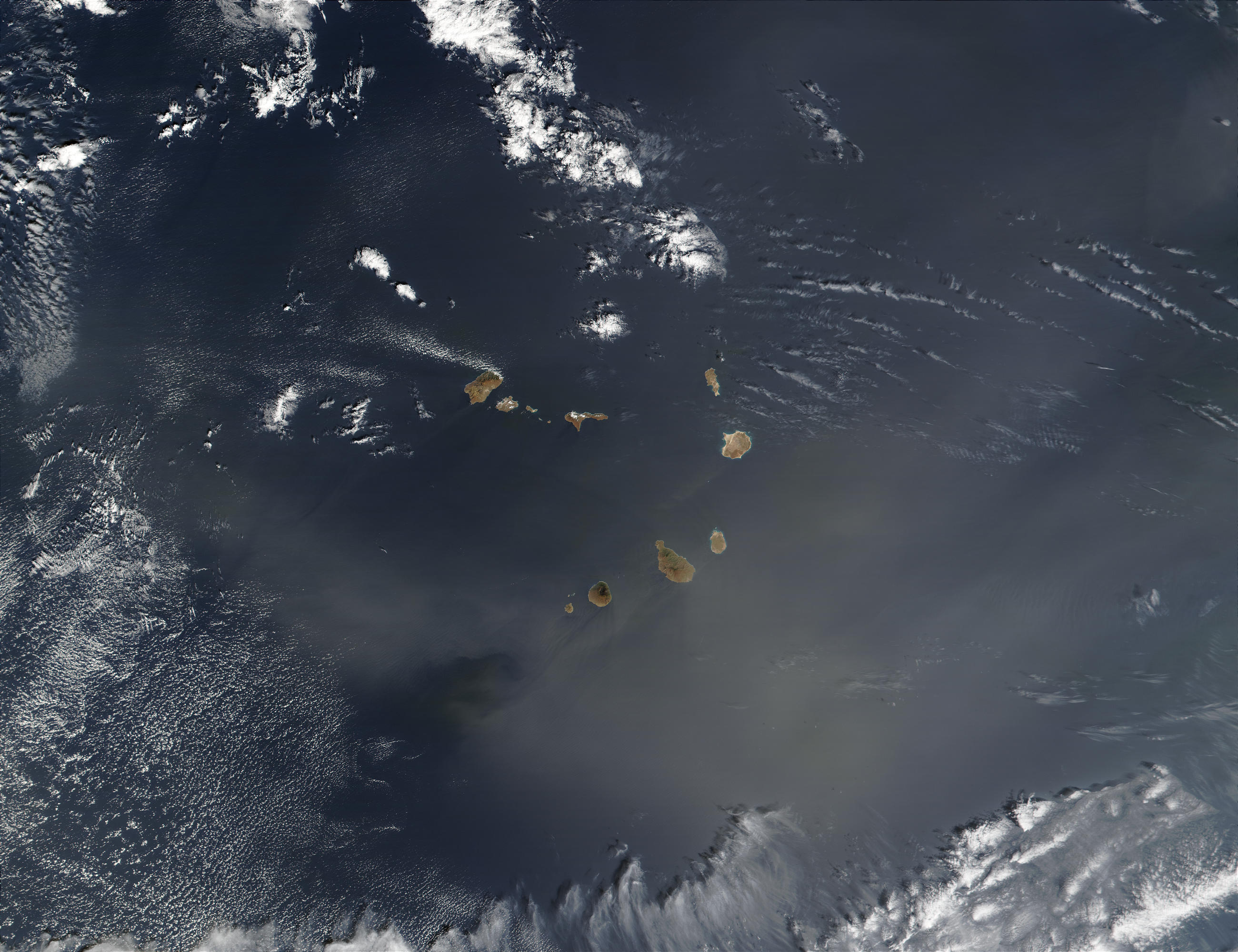 Saharan dust over Cape Verde Islands - related image preview