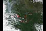 Fires near Yakutsk, Russia