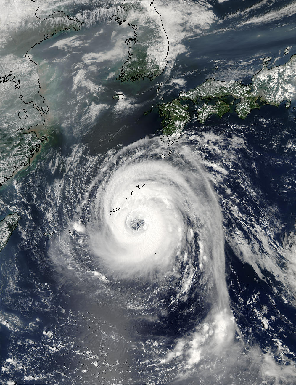 Typhoon Sinlaku (22W) south of Japan - related image preview