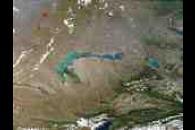 Fires near Lake Balkhash, Kazakhstan