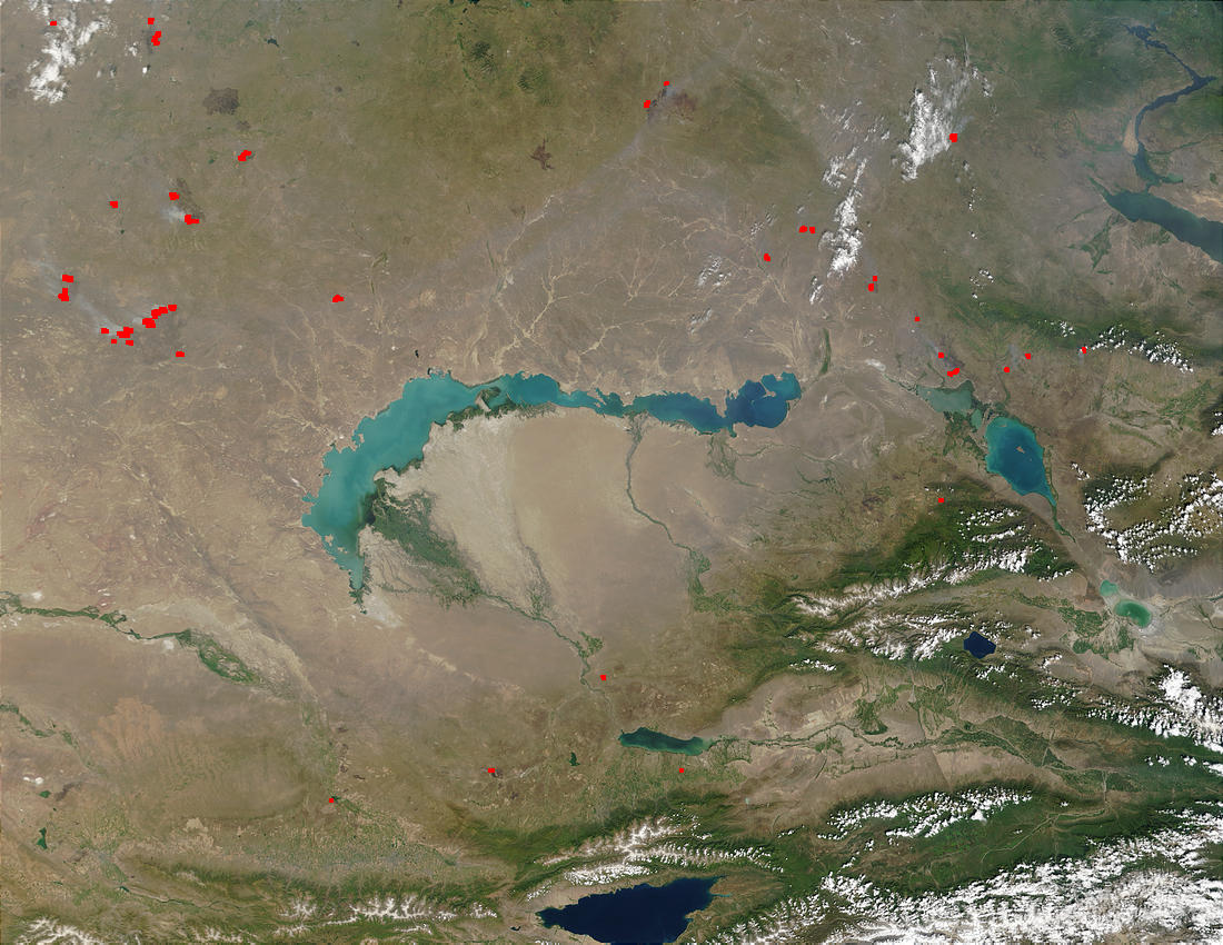 Fires near Lake Balkhash, Kazakhstan - related image preview