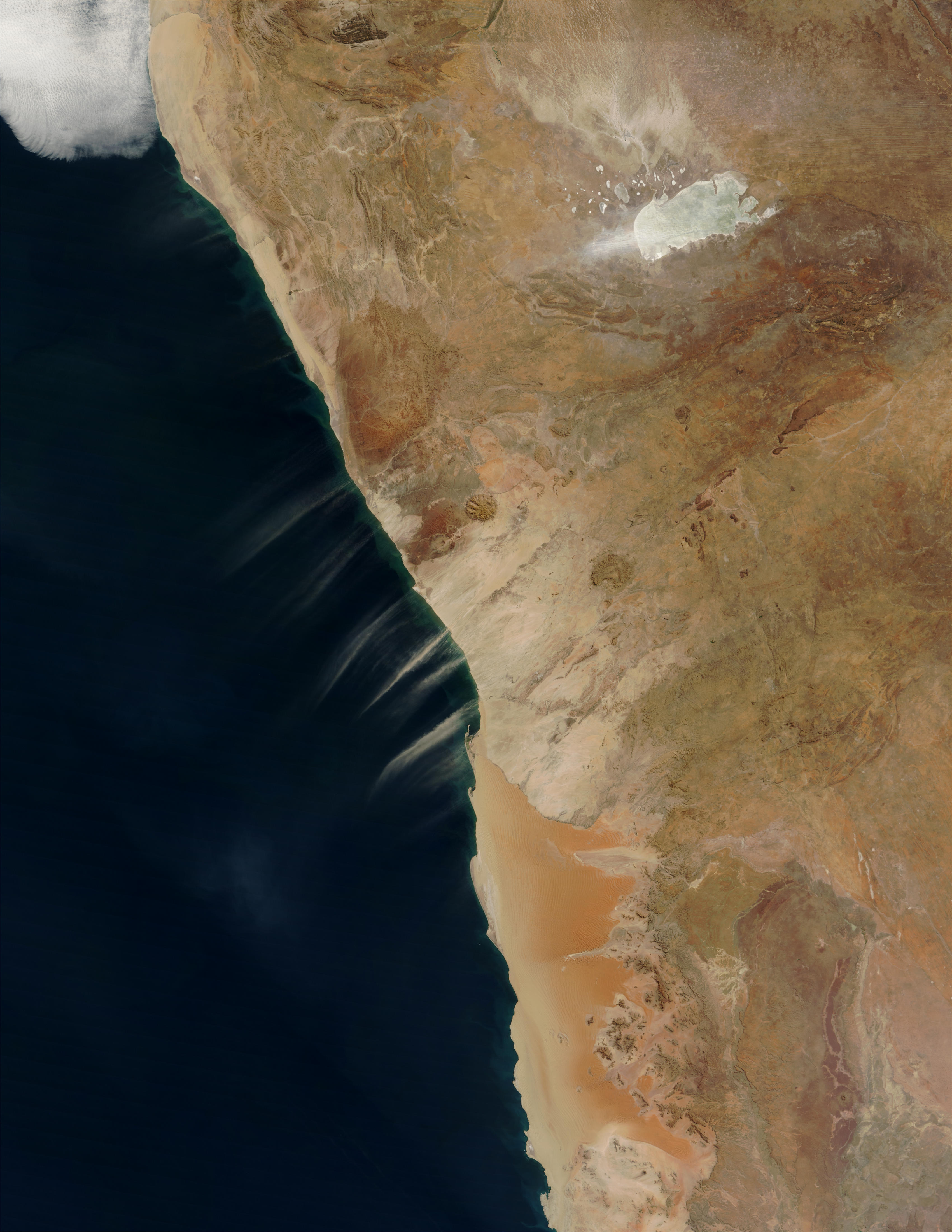 Dust plumes off Namibia Coast - related image preview