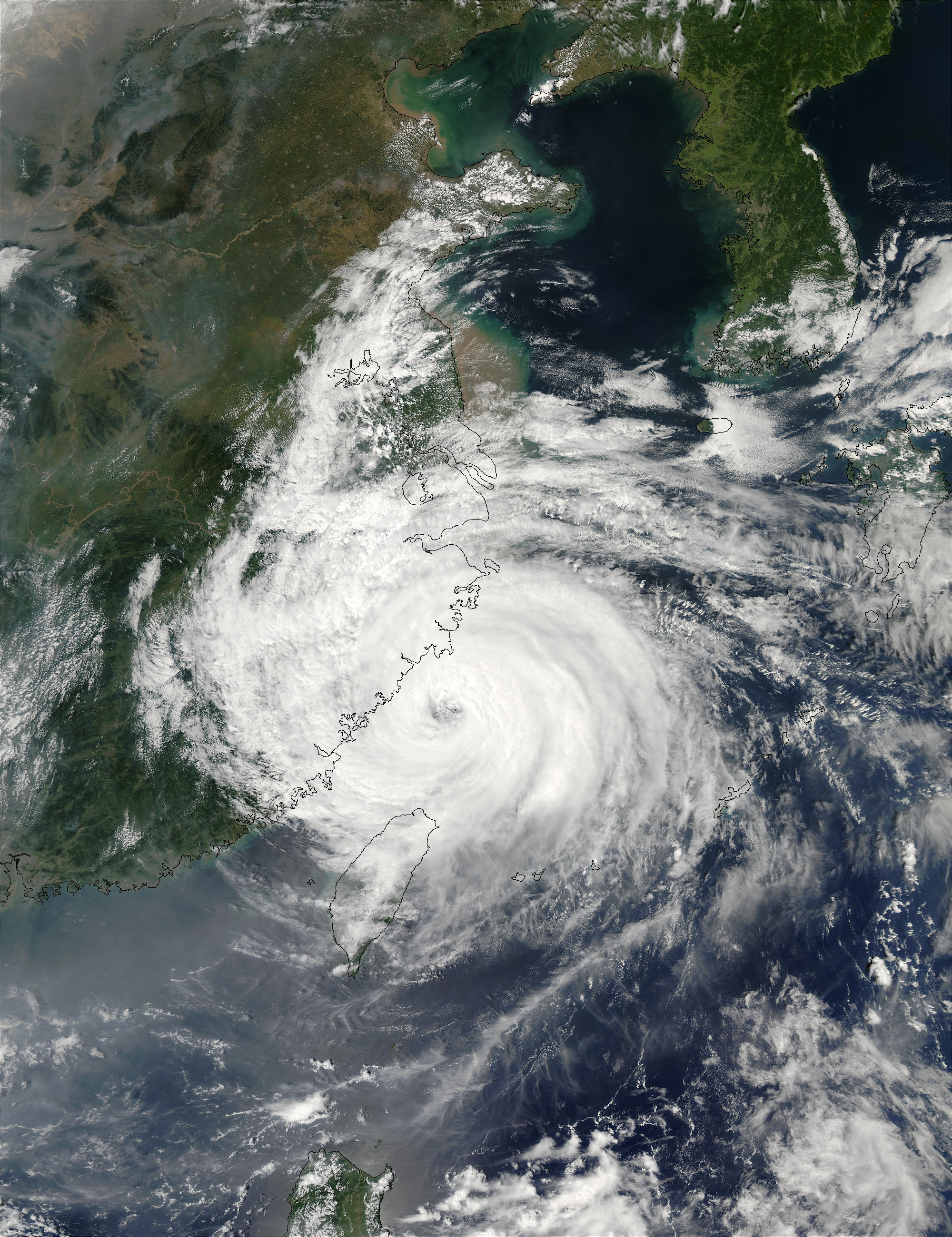 Typhoon Sinlaku (22W) over China coast - related image preview