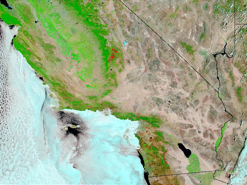 Fires and burn scars in California - related image preview