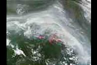 Fires and smoke near Yakutsk, Russia