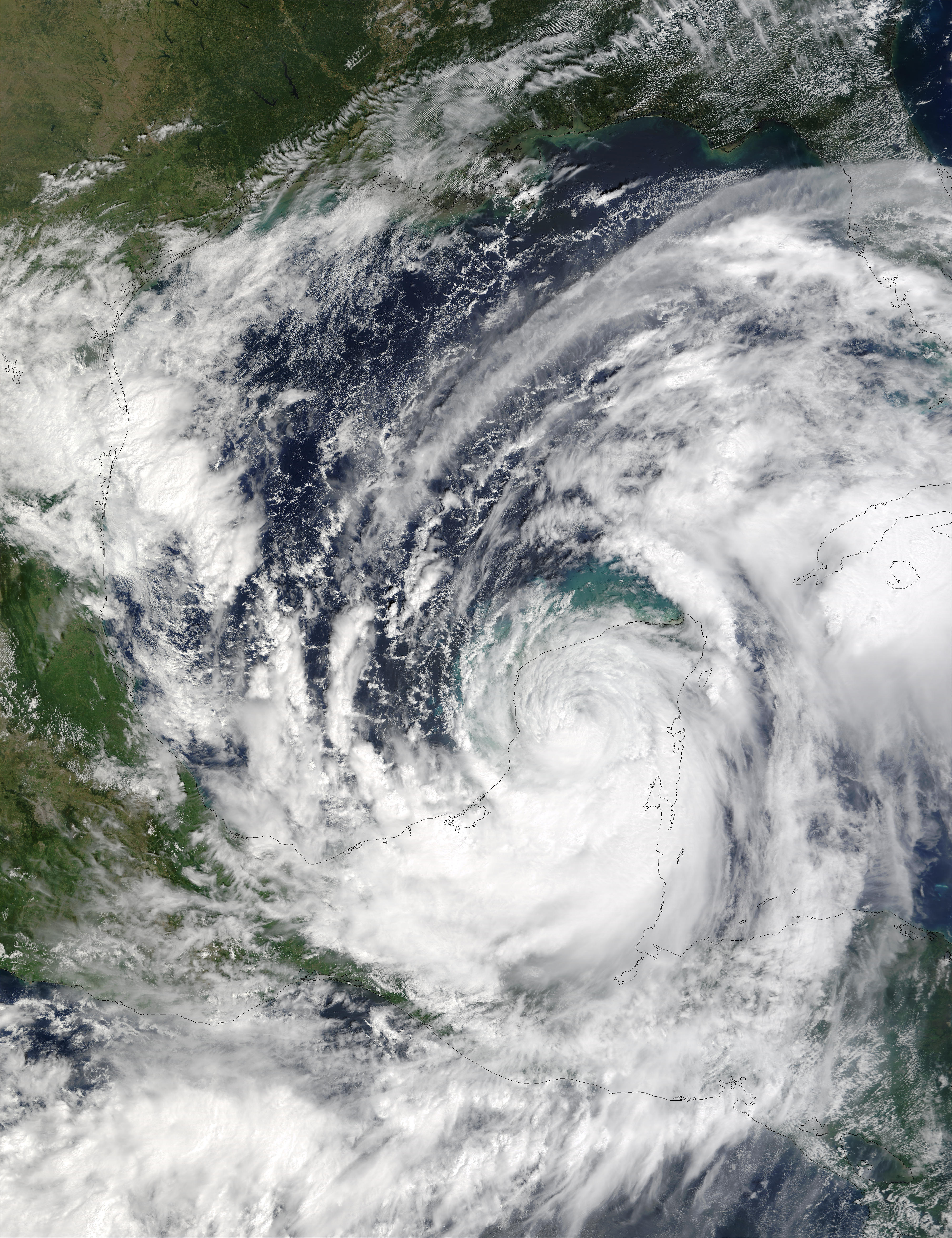 Hurricane Isidore over Yucatan Peninsula - related image preview