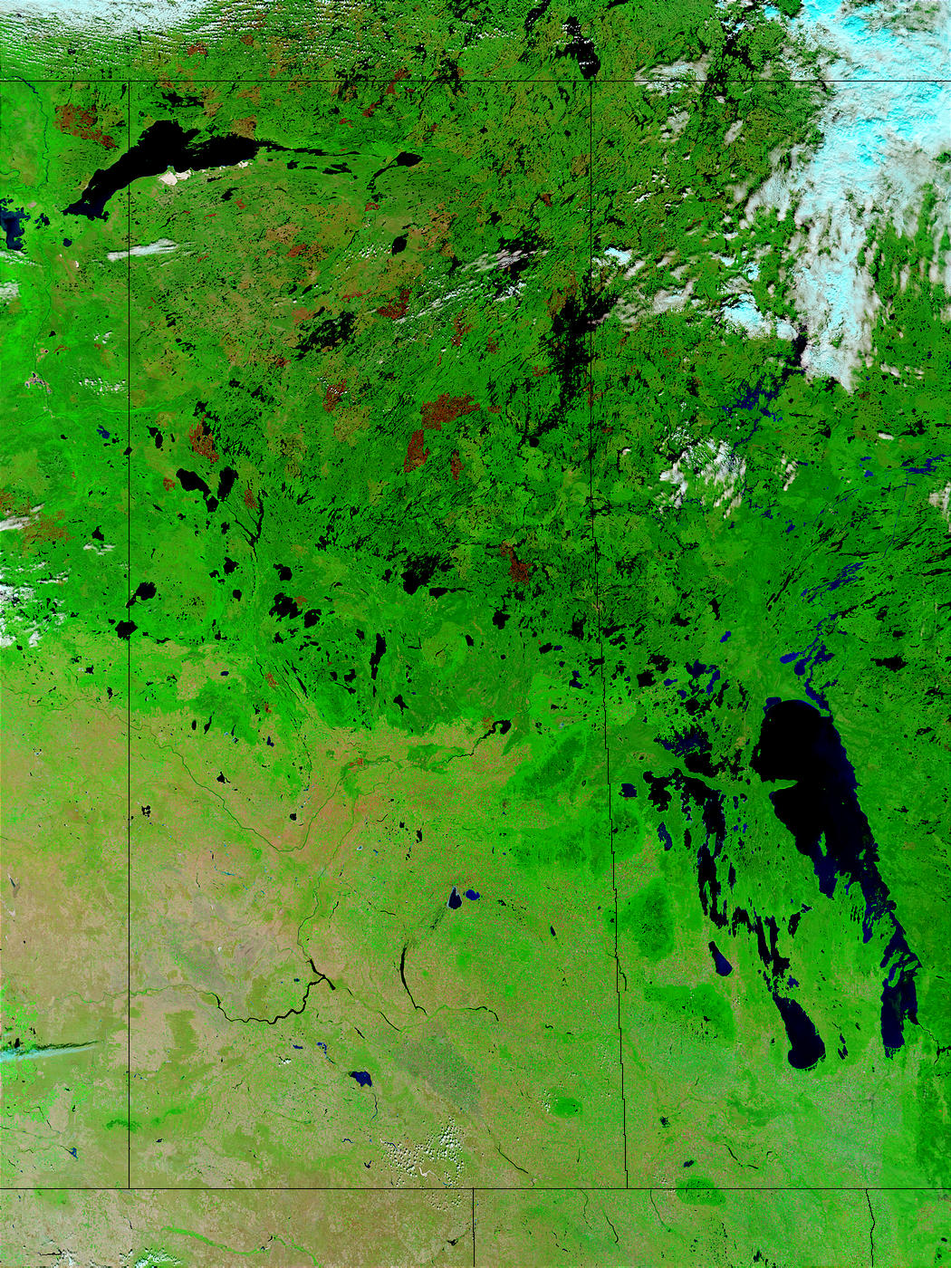 Burn scars in Saskatchewan, Canada - related image preview