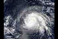 Typhoon Higos over Mariana Islands, Pacific Ocean