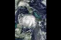 Hurricane Lili over Cuba