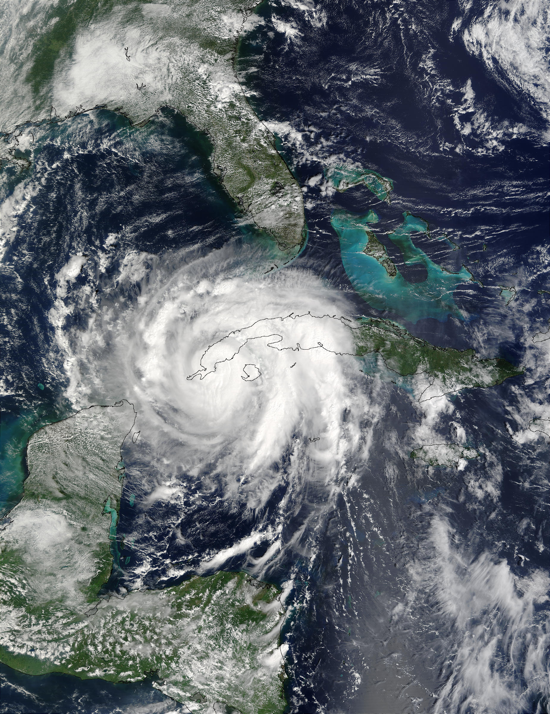 Hurricane Lili over Cuba - related image preview