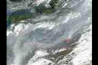 Fires and smoke in Russia and Belarus