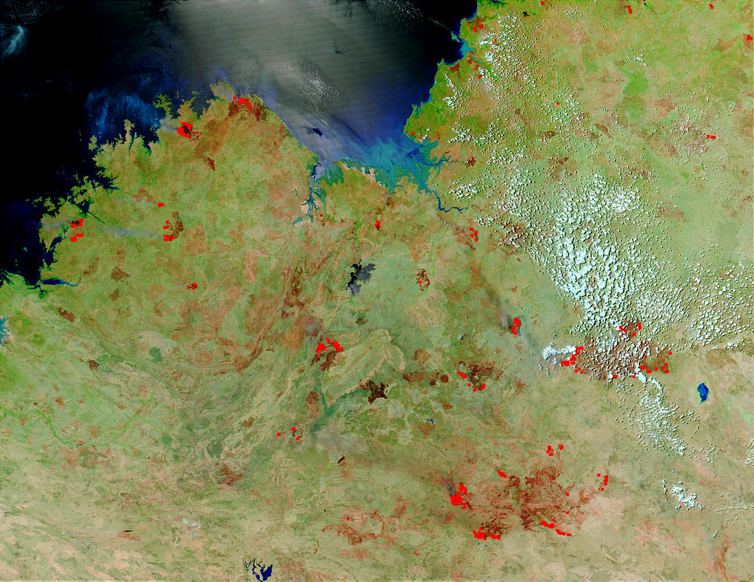 Fires and burn scars in Northern Australia - related image preview