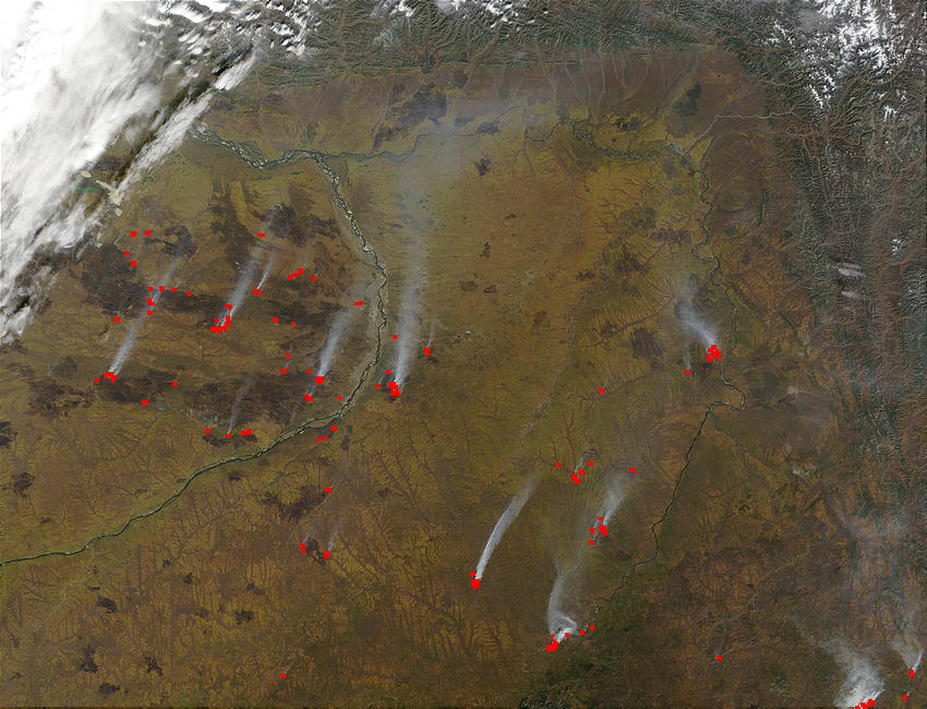 Fires and burn scars near Yakutsk, Russia - related image preview