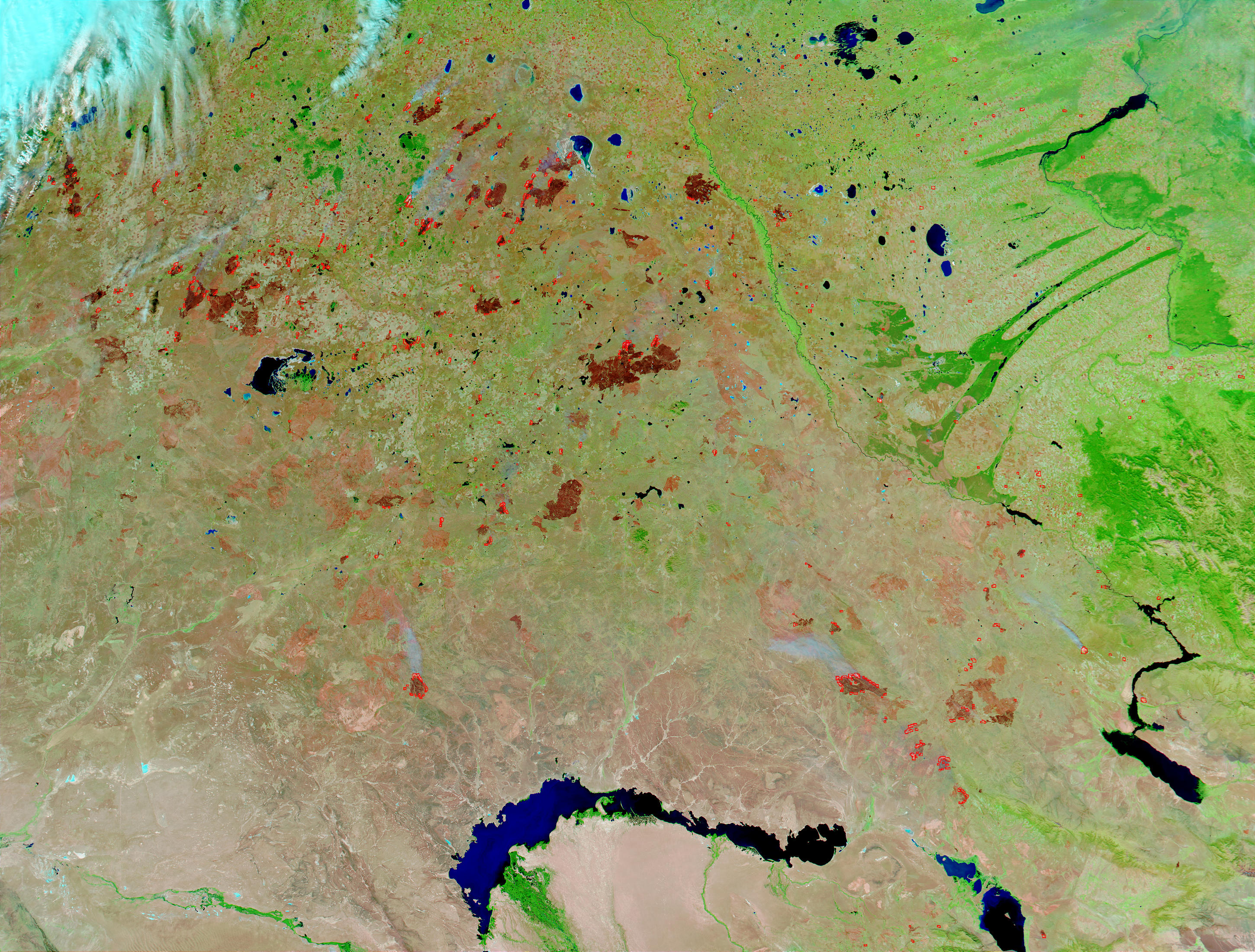 Fires and burn scars in Kazakhstan - related image preview
