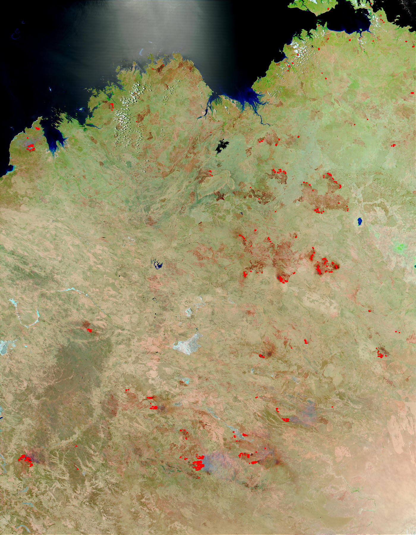 Fires and burn scars in Northern and Central Australia - related image preview