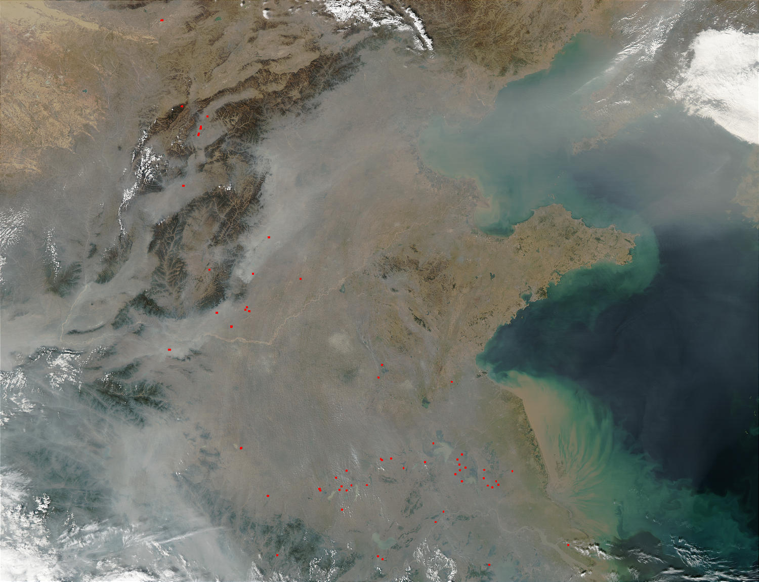 Pollution over Eastern China - related image preview