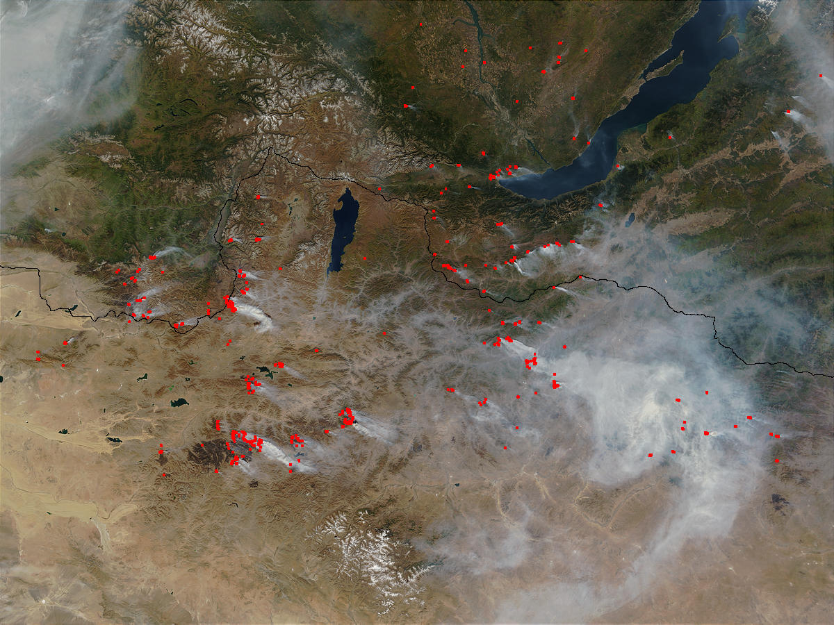 Fires and smoke in Mongolia and Russia - related image preview