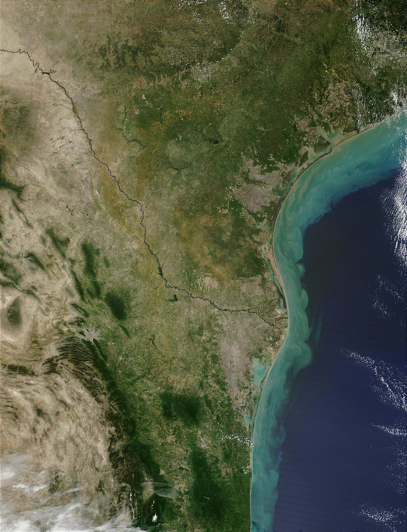 Sediments along Texas Coast and Mexico Coast - related image preview