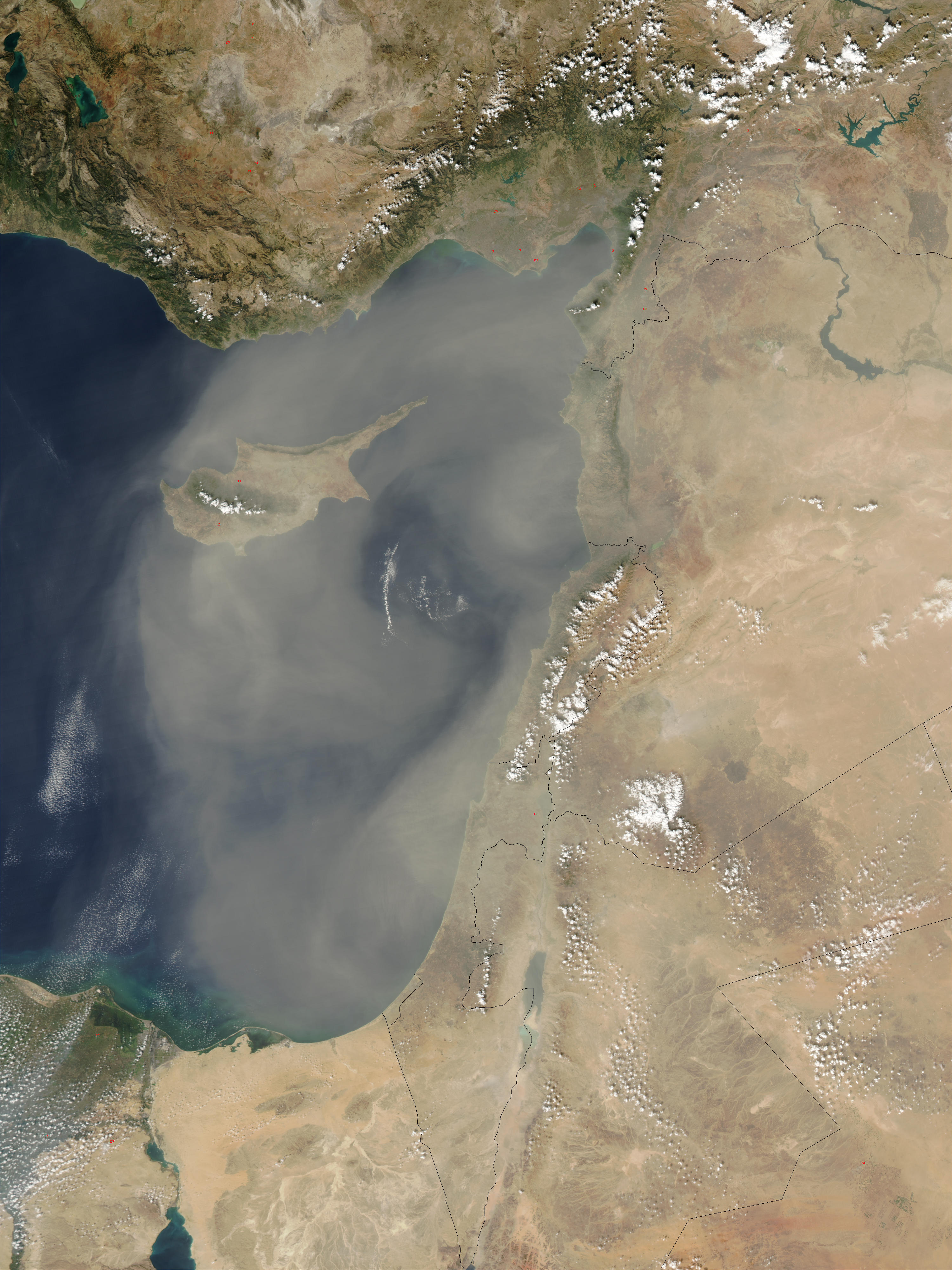 Dust storm over Cyprus - related image preview