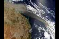 Dust plume off Australia East Coast
