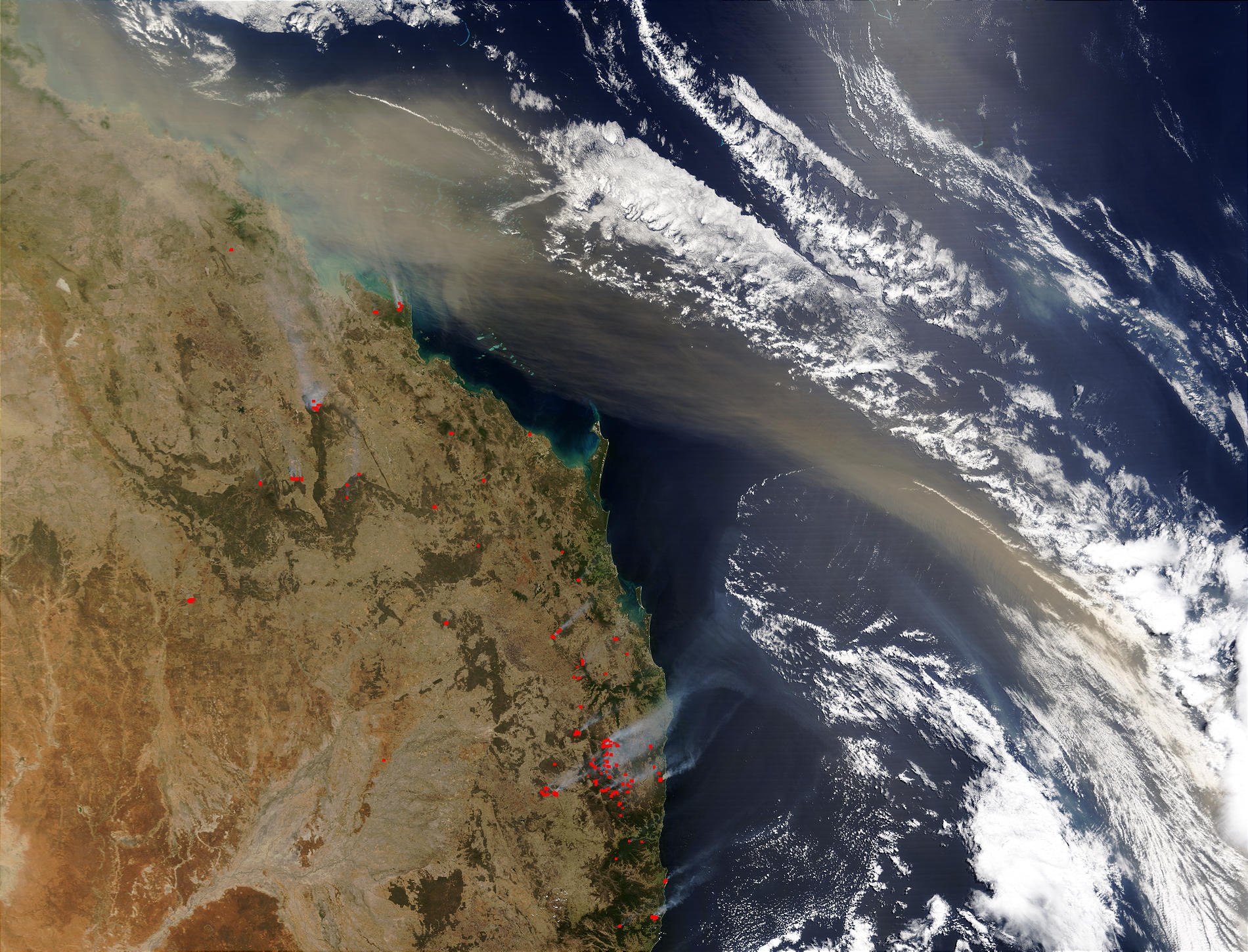 Dust plume off Australia East Coast - related image preview