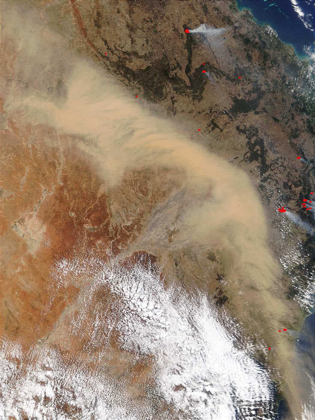 Dust storm and fires in Eastern Australia - related image preview