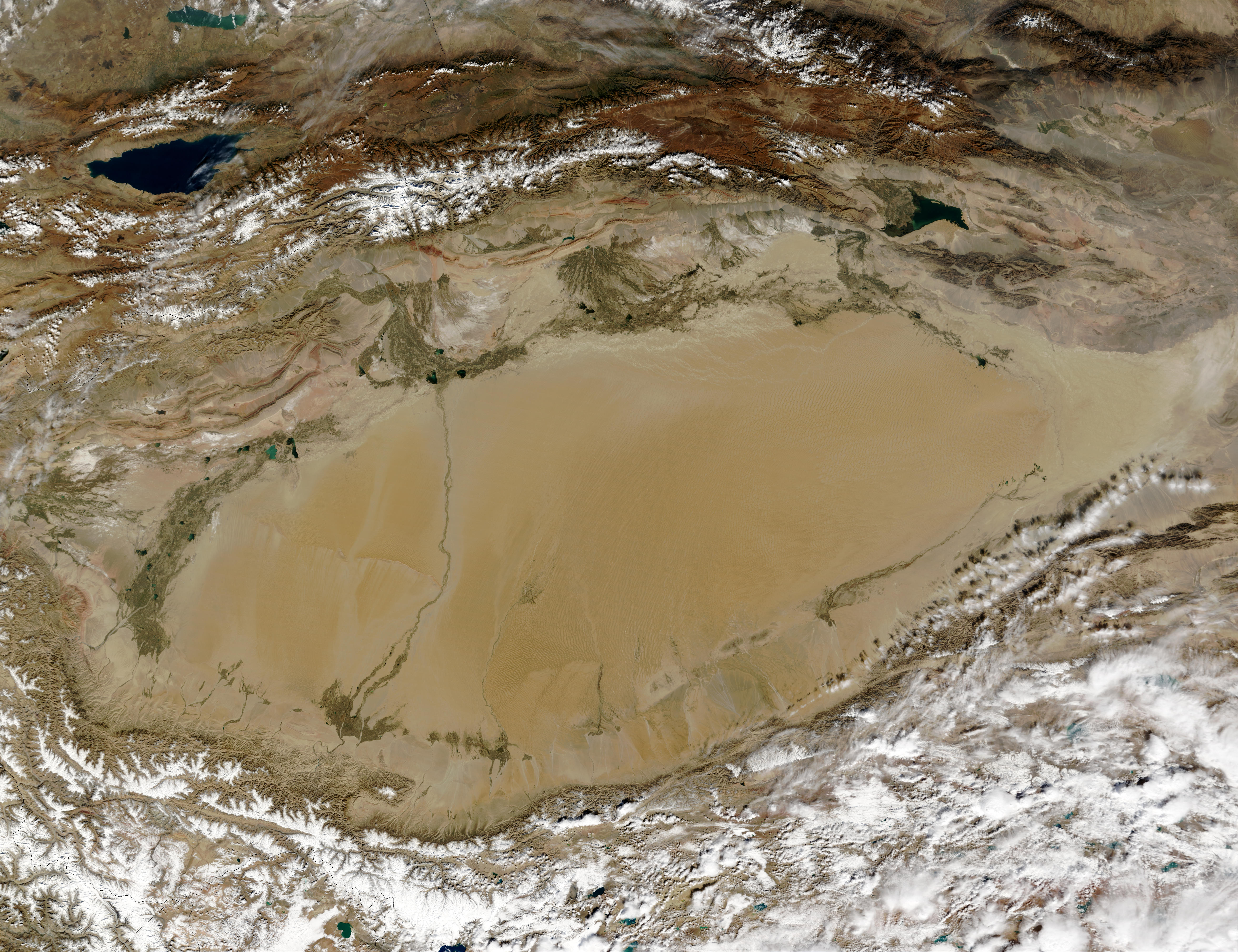 Taklimakan Desert Map