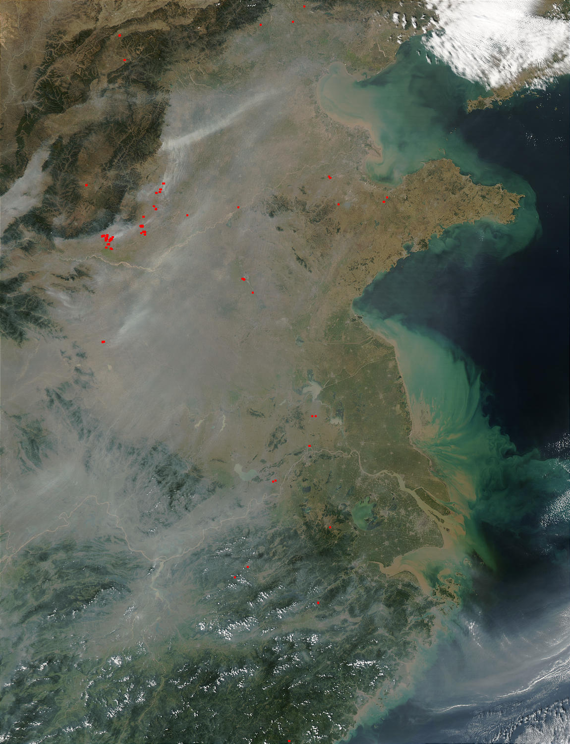 Smoke and pollution in Eastern China - related image preview