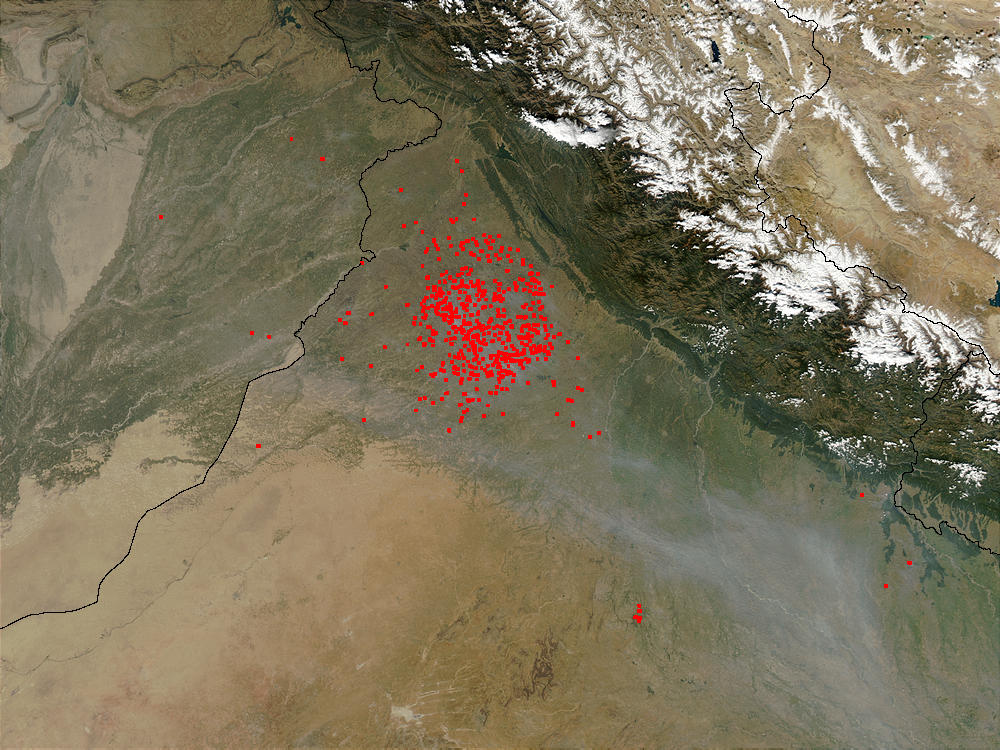Fires in Northwest India - related image preview