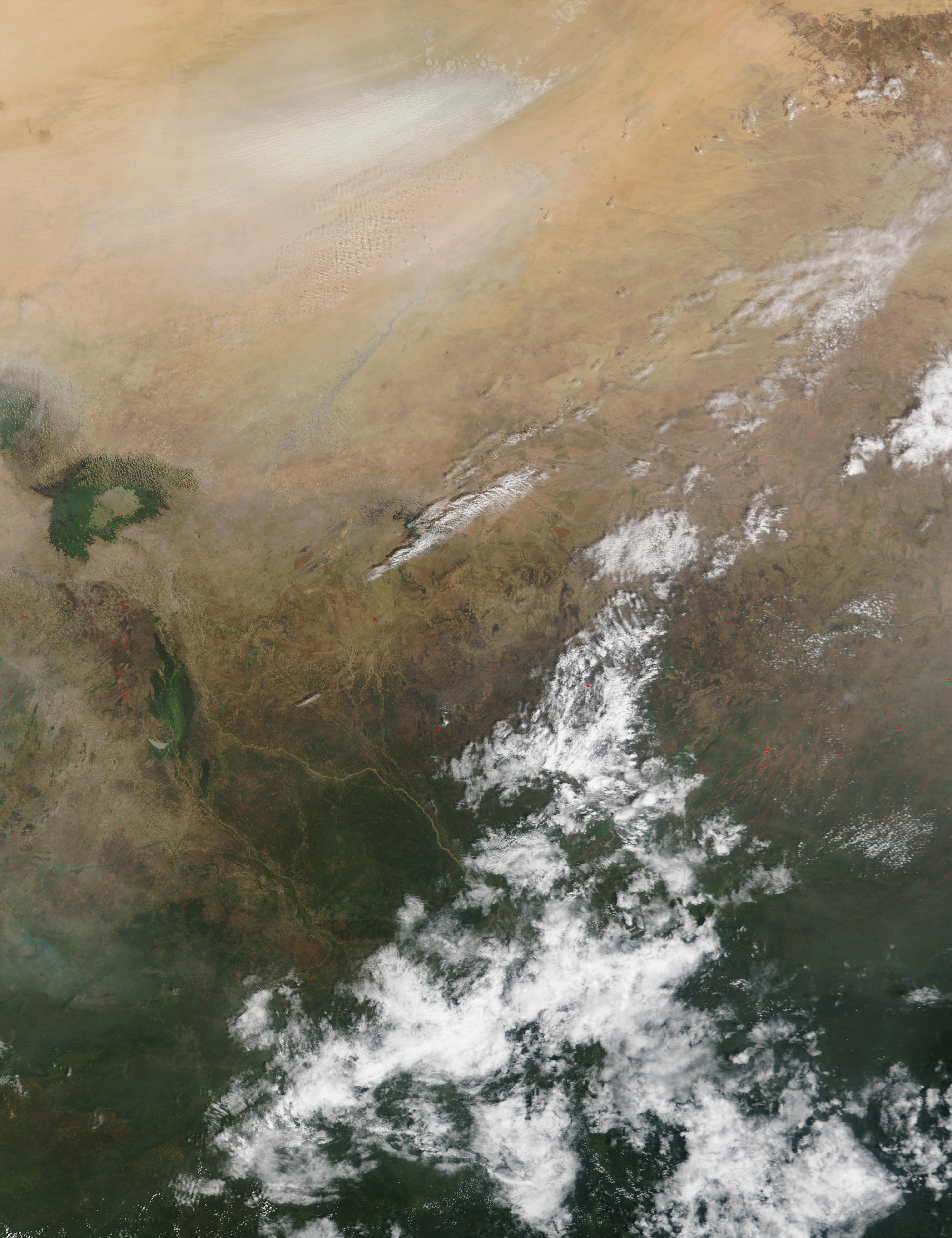 Dust storm and fires in Chad - related image preview